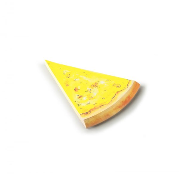 Pen and deli pizza memo pad cheese