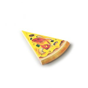 Pen and deli pizza memo pad tomato
