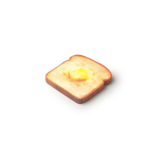 Pen and deli toast memo pad butter