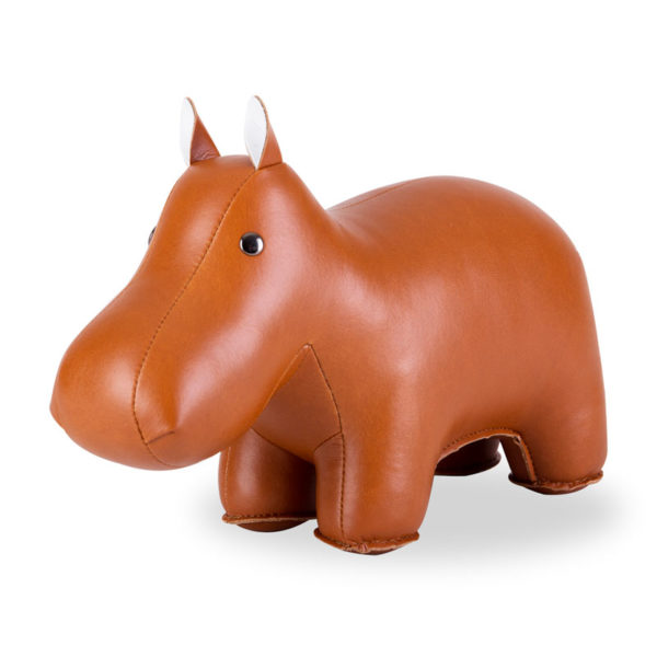 zuny-classic-hippo-bookend-tan
