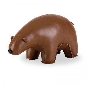 zuny-classic-bear-bookend-brown