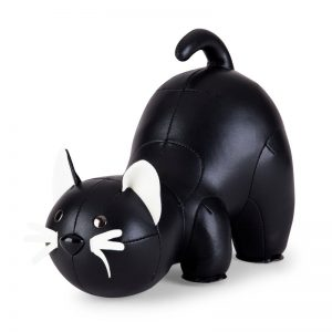 zuny-classic-cat-bookend-black