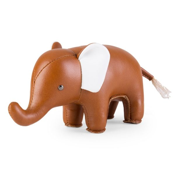 zuny-classic-elephant-paperweight-tan