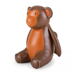 zuny-classic-monkey-bookend-brown