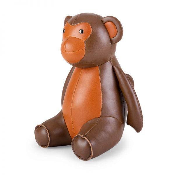 zuny-classic-monkey-bookend-brown