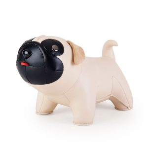 zuny-classic-pug-bookend-wheat