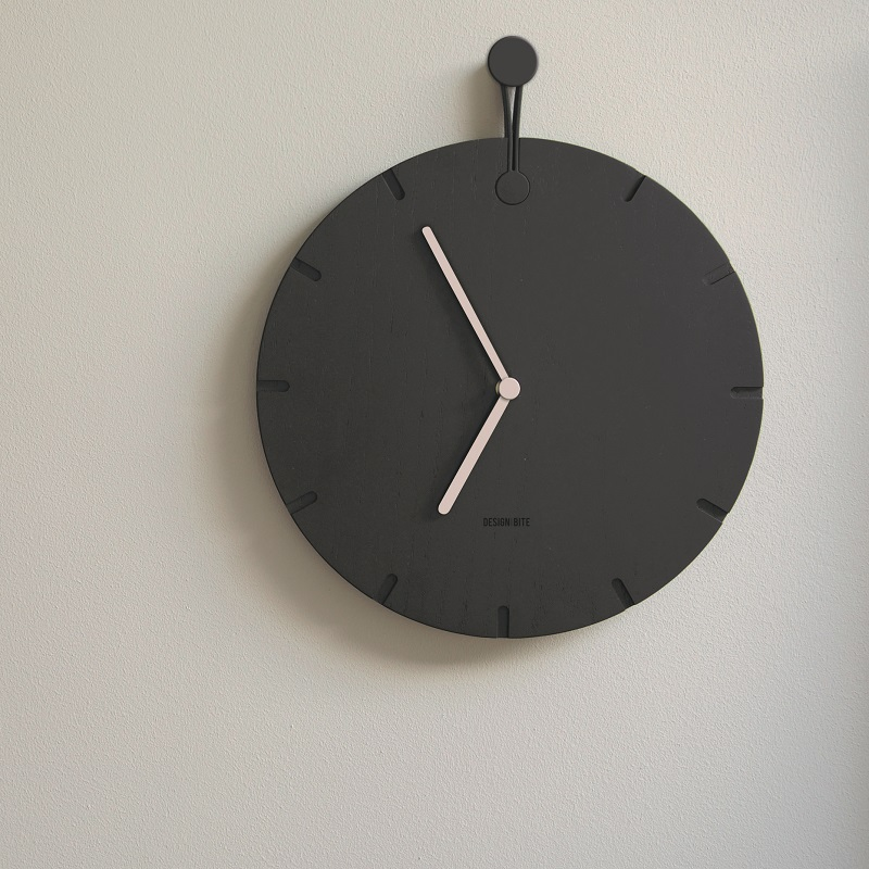 Designbite Wall Clock Midnight Blue, Big Round Clock