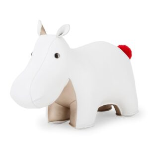 zuny-hippo-white-and-pearl-gold-bookend-pompom-limited-edition