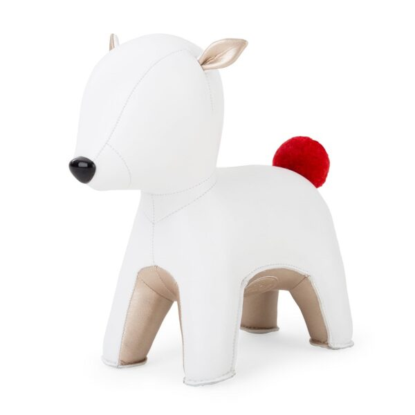 zuny-deer-pipi-white-and-pearl-gold-bookend-pompom-limited-edition