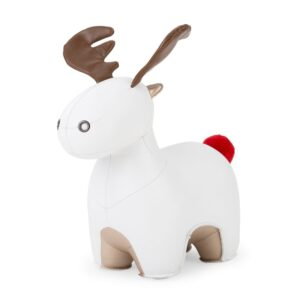 zuny-special-edition-moose-rudo-white-and-pearl-gold-bookend-red-pompom