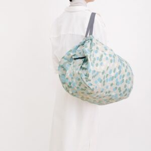 shupatto-compact-foldable-shopping-bag-size-l-hailstone-arare-model-detail